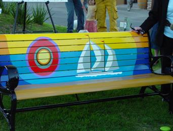 Art Benches in Riviera Village